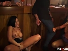 The vivacious, busty and horny duo, Gigi Love and Ginger Hell, lick and tease...