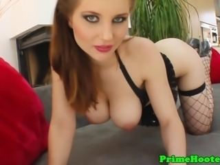 Stunning pov slut with big natural tits fingered and toys her pussy