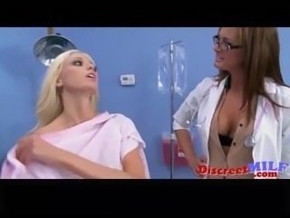 Sexy freak control nurse doing threesome p1