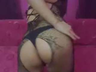 Tranny Gets a Boner and Masturbates her Hard Dick