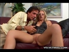 Angela Stone slides big Cock deep in her mouth and sucks it like the horny...