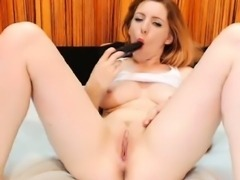 Smoking HOT busty Redhead babe will surprise you with her
