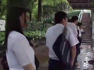 Horny Teen Ai Uehara fucked In A Public Bus