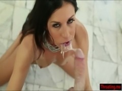 Milf India Summer gives a sloppy deepthroat on a hard cock free