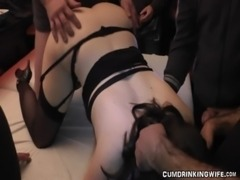 Huge slutwife gangbang with 40 men free