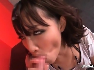 Sexy asian bitch suck monster cock until part2