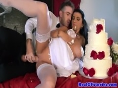 Horny big titted milf bride fucked hard free