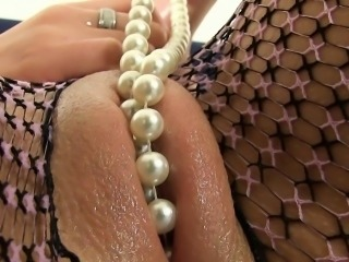 Hot moist wet pussy babe in lingerie masturbates