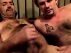 Redneck dude is playing with his dick