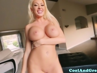 Huge titted milf Summer Brielle pov fucked and facial and she loves it