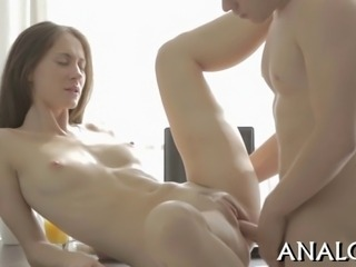 Sweet babes anal tunnel is thrashed in different sex positions