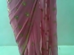 Cute Indian Desi Girl in Pink Saree Sucking and Fucking with young teen south...