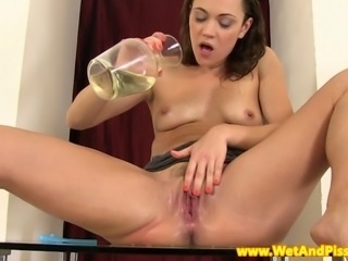 Pee fetish babe showering herself in her piss and loves it