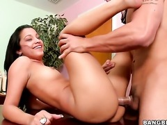 Senorita Anna with juicy ass finds it exciting to be hammered in front of the...