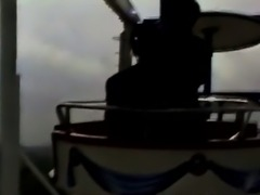 Black African beauty gets fucked in the Ferris wheel