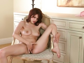 Bree Daniels gets naked to give a close-up of her love hole in solo scene