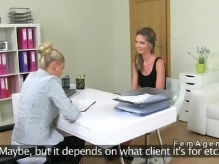 Russian female agent records lesbian sex