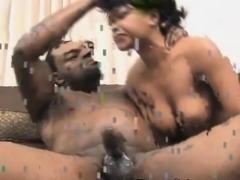 Dirty Black Slut Puking During Very Rough Face Fucking