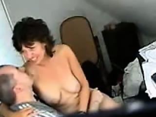Hidden camera recorded mature couple have sex in office