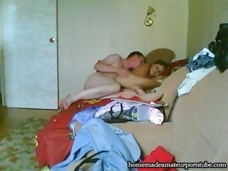 Horny russian couple made homemade porn