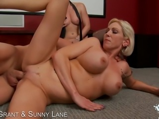 Kasey Grant and Sunny Lane switch off riding cock!