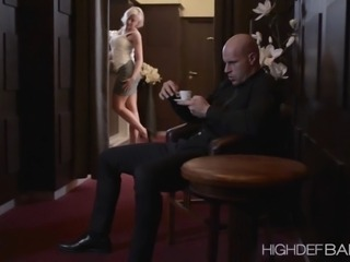 Mature Viktoria is at home while distracting her man in stripping She gets fuck from behind by her mans stiff dick after that kinky striptease She moans so loud in pleasure of the penetration making her pussy more wet and make her drive the cock while shes on top