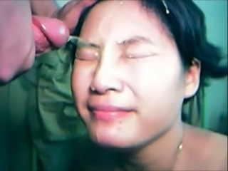Teen chinese gets massive facial