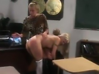 Naughty Cheerleader Gets Spanked