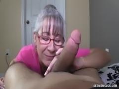 Horny Granny Sucks A Young Dick free