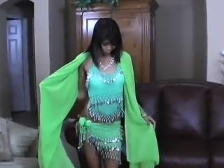very pretty indian girl in green dress