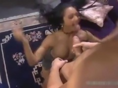 Horny asian babe gets pussy licked part5.