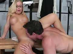 Nicole Aniston cant resist the desire to take Peter Norths erect tool in her...