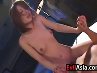 Beautiful Asian girl 69s and then gets fucked hard
