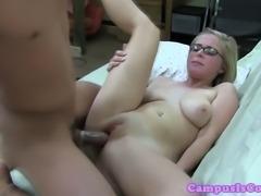 Real sorority blonde riding lucky classmates cockha