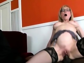 Big stacked blonde MILF helps queer son to keep his job