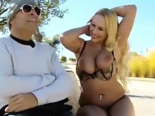 Big Titty Blonde Girl Sucking Dick And Fucked In Public