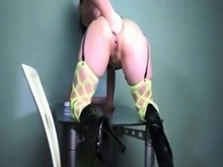 XXL butt plug fuck and anal fisting prolapse babe