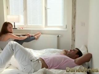 DaneJones Wakes him with a blowjob and demands sex