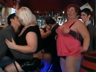 3 fatty join Perverted porn party