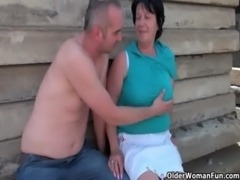 Ugly grandma with 1 inch nipples fucked outdoors free