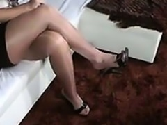 Heel And Footjob Wearing Nylons
