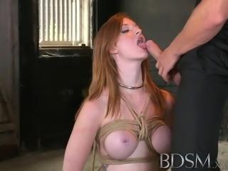 Beautiful Red head has her tight holes filled with big cock