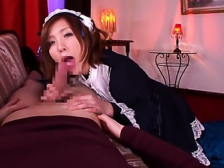 Rin Sakuragi gets her lovely face cum covered after sex with horny guy