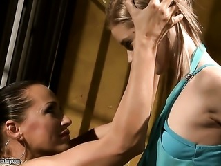 Blonde Mandy Bright is in heaven doing it with hot lesbian Nesty
