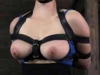 Bounded bdsm submissive punished hard