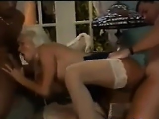 Busty Blonde Chick In A Threesome