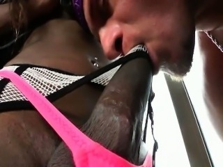 Isabela gets her big black dick sucked