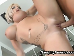 Christian admires fuck hungry Brooke Jamesons body before she takes his pole in her muff