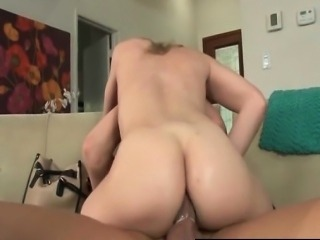 TS Angelina Torres riding a big cock
