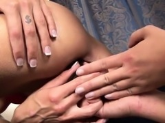 18 year old Tracy gets a lesson in pee play from the older